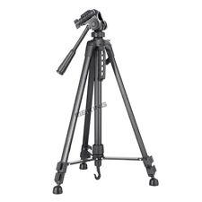 "55"" 140cm Portable Aluminium Tripod + 3 Way Fluid Head fr Camera Video Camcorder"