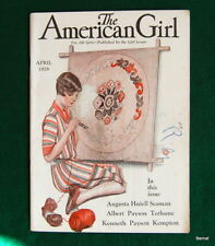 VINTAGE  GIRL SCOUT - 1928 AMERICAN GIRL - APRIL