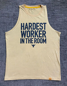 Under Armour Project Rock Mens Hardest Worker In The Room Tank Top Shirt XL