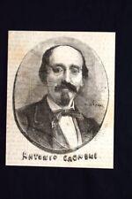 Il compositore italiano Antonio Cagnoni Incisione del 1869