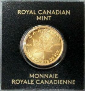 2017 GOLD CANADA 1 GRAM .9999 GOLD 50 CENT MAPLE LEAF ROYAL CANADIAN MINT COIN