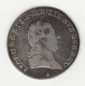 1791 A  AUSTRIAN NETHERLANDS LEOPOLD II SILVER 1/4 KRONENTHALER