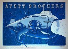 AVETT BROTHERS ORANGE BEACH AL. 2012 MEGA RARE CONCERT POSTER S/N ED  OF 100!!