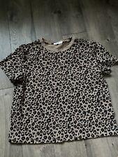Vici Leopard Tshirt, Size Large