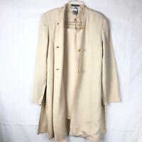 Saks Fifth Avenue Sahara Womens Cream 2 piece Skirt (sz 14) & jacket (Sz 10) 38P