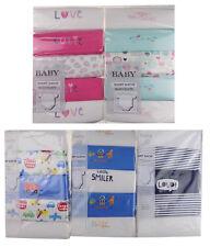 BABY BOYS GIRLS 5 PACK DESIGN/PLAIN BODYSUITS VESTS SHORT SLEEVE MULTI PACK VEST