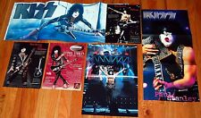 KISS Paul Stanley Ibanez Iceman Washburn 3pc Poster Centerfold +3pc Promo Ad Lot