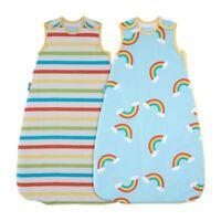 Rainbow Stripe Wash & Wear Twin Pack Grobag Baby Sleeping Bag - 2.5 Tog - 0-6m