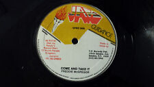 """FREDDIE McGREGOR - COME AND TAKE IT / REGGAE 12""""  on JAH GUIDANCE"""