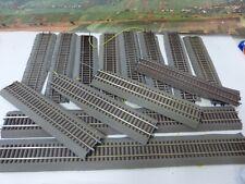 14 Stück gebogene Gleise mit Bettung von Roco             31/22