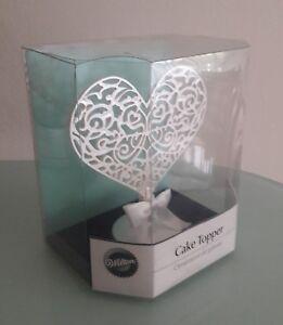 WILTON FILIGREE HEART CAKE TOPPER/ORNAMENT WEDDING