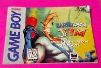 Earthworm Jim  - Nintendo Game Boy Instruction MANUAL ONLY - No Game