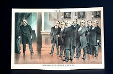 Presidential Transition Period 1881 CHESTER ARTHUR with ANXIOUS GARFIELD CABINET