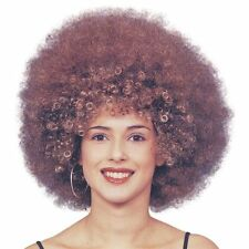 LADIES #BEYONCE JUMBO AFRO FOXY CLEOPATRA BROWN WIG 1970s FANCY DRESS DISCO