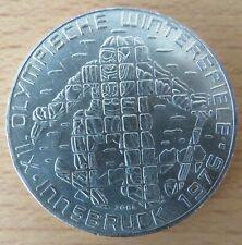 Österreich 100 Schilling 1975, Abfahrer Innsbruck 1976, Silber-Gedenkmünze