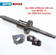 1Pc Ballscrew SFU2005 500mm with Nut+BK/BF 15 Support+Nut Housing For CNC Router