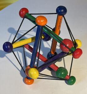 Manhattan Toy Skwish Classic Wood Elastic Baby Rattle Teether Original Colour 2