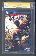 SUPERMAN UNCHAINED #1 WE CAN BE HEROES CGC 9.8 SS JIM LEE NM+ / M