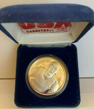 Michael Jordan Silver Troy Ounce .999 Usa Basketball Coin in Case and Box