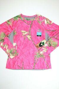 Womens Mossy Oak Pink Wicking Performance Long Sleeve T Shirt 2XL XXL NEW! NWT