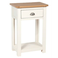 Cream Painted Small Console Table Oak / Hallway Solid Wood / Telephone Millbrook