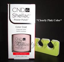 CND Shellac Clearly Pink Color UV Gel Polish .25oz New With Box +BONUS ITEM!