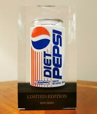 Vintage Canada Diet Pepsi Pop Can Limited Edition in Acrylic Encased 285/2000