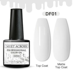 MEET ACROSS 250 Color Nail Gel Polish Soak Off UV LED Base Top Coat Nail Varnish