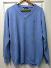 Polo Ralph Lauren 100% Cashmere Men's Blue Sweater Size XL