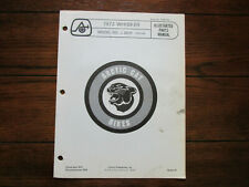 Vintage 1972 Arctic Cat Whisker Parts Manual List Model No. J 2601 (2500-034)