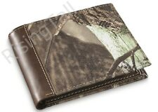 MENS CAMOUFLAGE LEATHER & CANVAS WALLET REALTREE CAMO GREAT HUNTING GIFT - NEW!