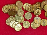1955 S LINCOLN WHEAT CENT PENNY BU UNCIRCULATED ROLL OF 50 COINS SOME SPOTS