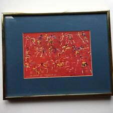 LEROY NEIMAN '71 Frazier vs. Ali Small Art Print Framed & Matted GUC