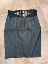 "Ladies Faux Leather Black Skirt - Size 8 - Select ""BNWT"""