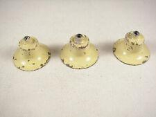 Lionel Prewar Lamp Shades w/sockets, THREE Pieces, Creme Color, NOS, nicked, VG+