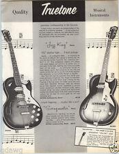 1962 PAPER AD 6 PG Truetone Jazz King Guitar Swingmaster Amplifier Banjo Violin