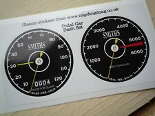 Pedal Car Vintage Style Dashboard Self Adhesive Stickers 60mm Speedo Rev Counter