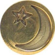 "Moon and Star Wax Seal Stamp (3/4"" brass seal), slightly irregular"