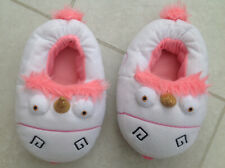 Despicable Me Pink Fluffy Unicorn Slippers, Size 12/13 Junior /EUR 30/31
