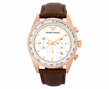 Emporio Armani Genuine Leather Band Casual Wristwatches