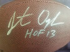 jonathan ogden signed football autographed ball auto nfl hall of fame hof proof