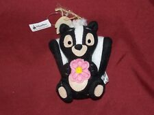 Disney Parks Storybook Skunk Flower from Bambi Plush Christmas Tree Ornament New