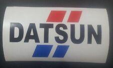 DATSUN Retro BRE Style tricolour vinyl sticker / decal 163mm x 95mm