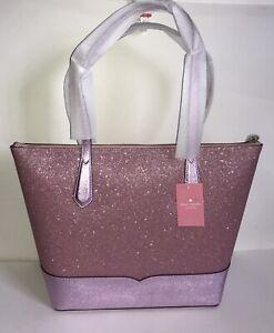 NWT!!Kate Spade New York Lola Glitter Tote Shoulder Bag in Rose Pink