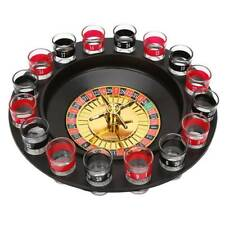 Deluxe Russian Spinning Roulette Poker Chips Drinking Game Shot Glass Set