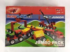 Fischertechnik Junior Jumbo Pack 14 Models 135 Pieces NEW