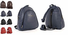 LADIES FASHION GIFT BACKPACK RUCKSACK  SOFT FAUX LEATHER TRAVEL BAG SPORT NEW
