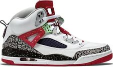NEW NIKE AIR JORDAN SPIZIKE sz 8.5 WHITE POISON GREEN RED  BLACK shoes sneakers