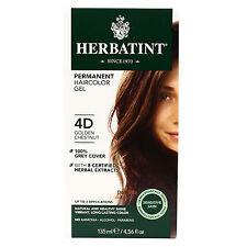Herbatint Permanent Herbal Hair Color Gel, 4D Golden Chestnut, 4.56 Ounce