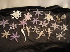 Vintyage...Lot of 21....Handmade....Christmas Beaded Ornaments